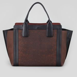 Chloé Alison East-West Leather Tote Bag Coffee